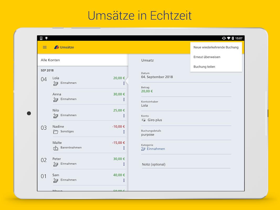 Postbank finanzassistent app