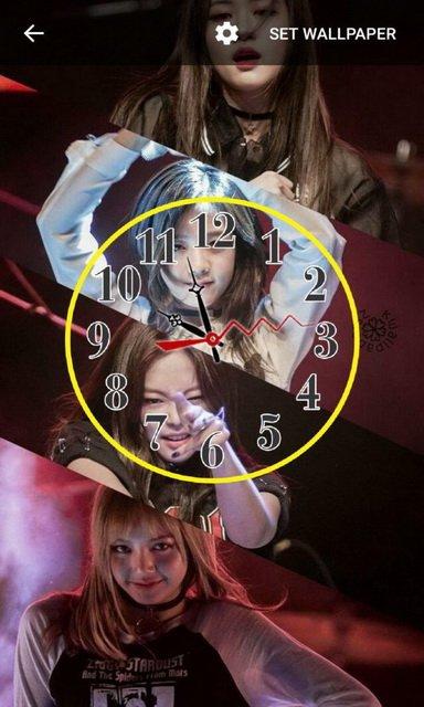 Blackpinks Clock Live Wallpaper screenshot 2