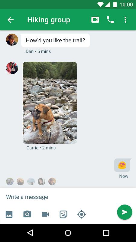 Hangouts screenshot 2