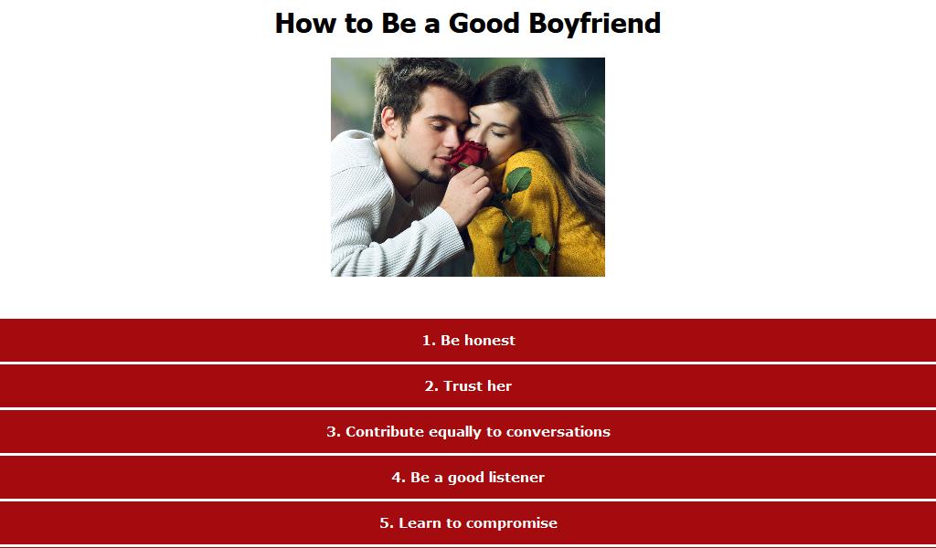 how to be a good boyfriend pdf