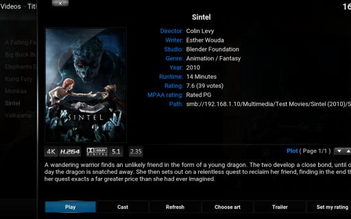 Kodi screenshot 1
