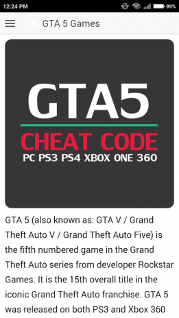 Cheat code for GTA 5 Games 1 2 1 Download APK for Android