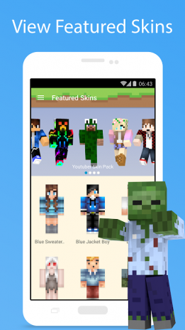 Skins For Minecraft Descargar APK Para Android Aptoide - Descargar skins para minecraft youtube