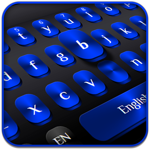 Cool Black Blue Keyboard