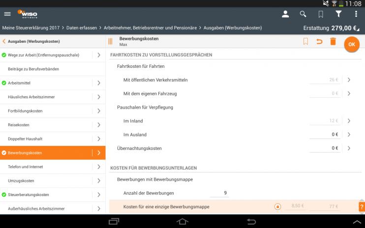 wiso steuer app 2018 screenshot 1 wiso steuer app 2018 screenshot 2 - Wiso Bewerbung