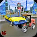 Moderne Stadtpolizei Autolift