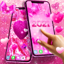 2021 lovely pink live wallpaper