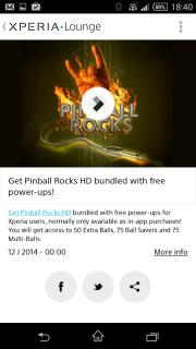 Xperia™ LOUNGE screenshot 1
