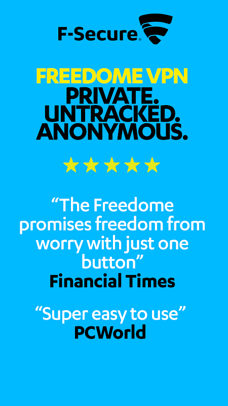 FREEDOME VPN Unlimited anonymous Wifi Security screenshot 1