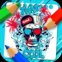 Graffiti Coloring book - sugar skull coloring