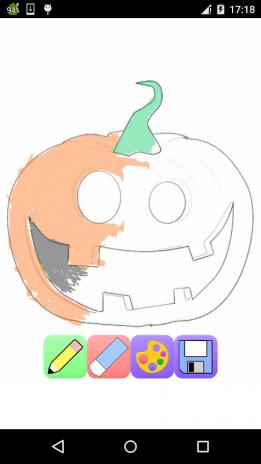 halloween jogo para colorir captura de tela 1 ...