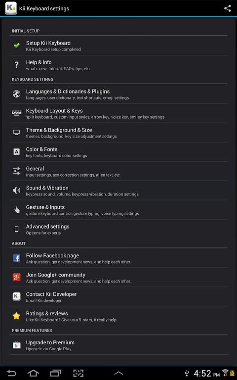 Kii Keyboard + Emoji screenshot 1