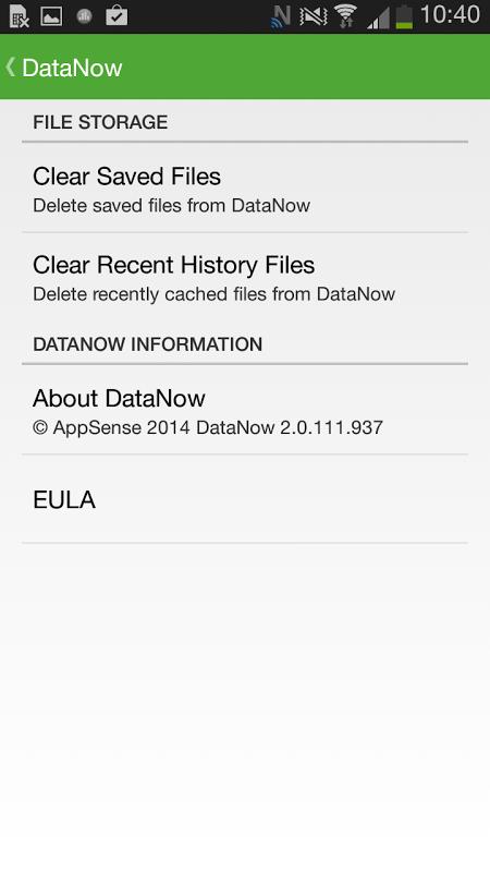 DataNow screenshot 2