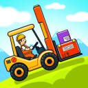 Car games for kids: building and hill racing