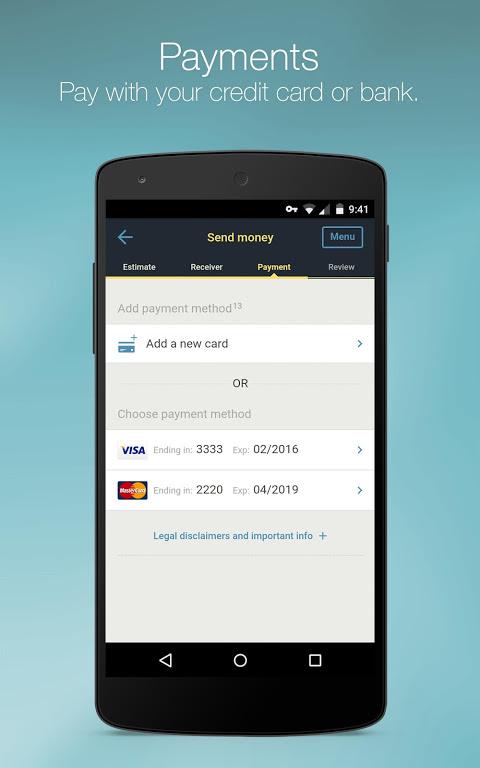 Western Union for Belgium, Luxembourg, Switzerland screenshot 2
