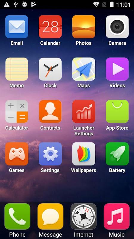 X Phone Launcher screenshot 1