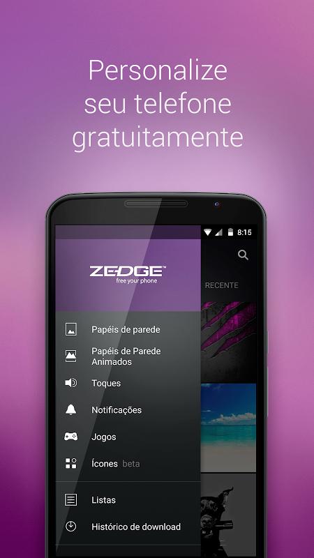 ZEDGE™ Toques, Fundos e Ícones screenshot 1