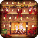 Fireplace Photo Keyboard Theme