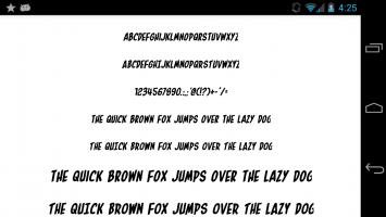 Fonts for FlipFont 50 24 Screen