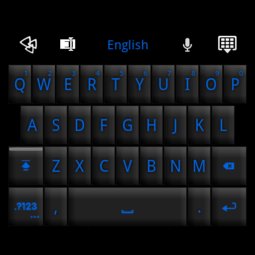 GO Keyboard Black Blue Theme