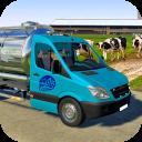 Milk Van Transport : Cow Milk Delivery Tanker