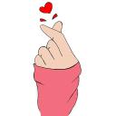 Finger Heart Wallpaper