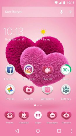 Pink Hearts 2018 Love Wallpaper Theme 1 0 2 Download Apk