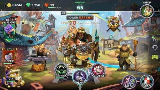 Dungeon Legends - PvP Action MMO RPG Co-op Games screenshot 5