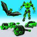 Flying Bat Robot Bike Game