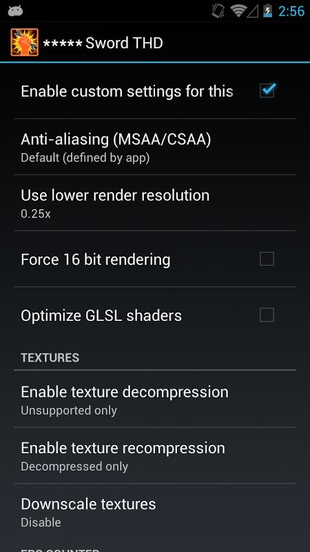 GLTools (graphics optimizer) screenshot 1