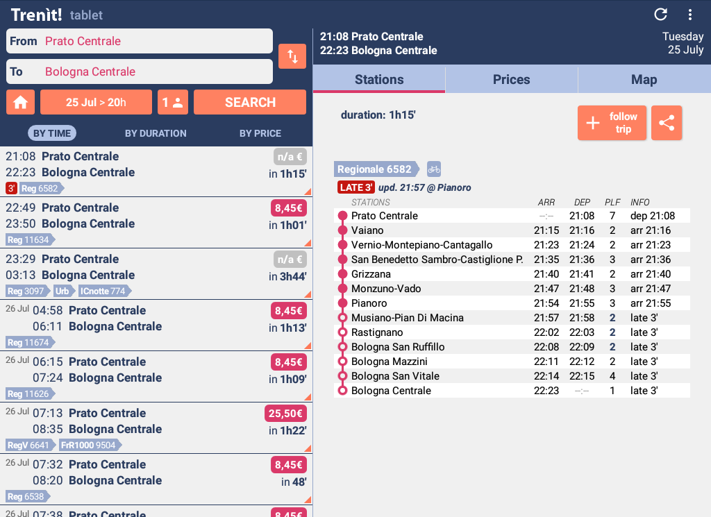 Trenit! - find Trains in Italy screenshot 2