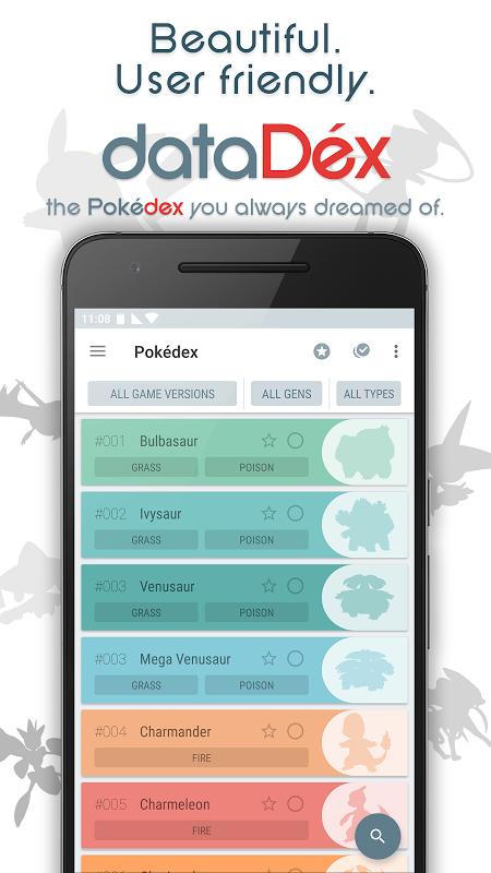 dataDex - Pokédex para Pokémon screenshot 1