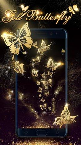 Papillon Doré Fond D écran 1 2 0 Télécharger L Apk Pour