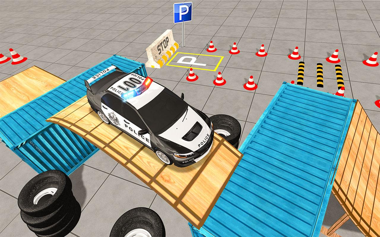 NYPD Smart Police Car Parking 3D- 15MB Games screenshot 2
