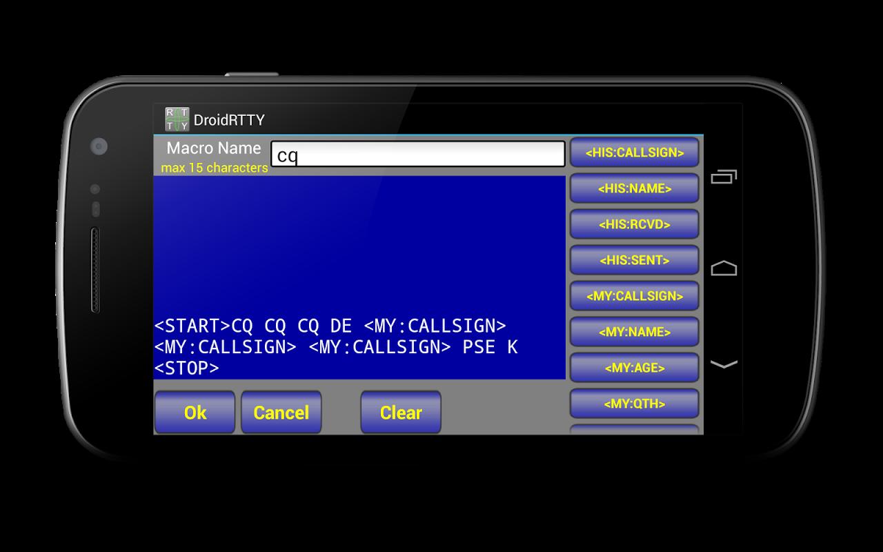 DroidRTTY for Ham Radio screenshot 2