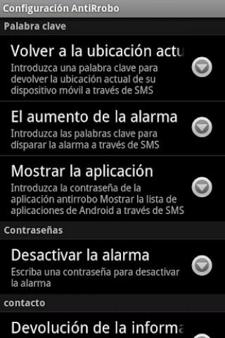 AntiFurto Droid Screenshot