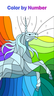 Paint by Numbers: New Colouring Pictures Book Free screenshot 1