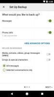 SMS Backup & Restore Screen