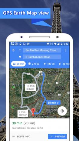 earth map live gps maps navigation screenshot 4
