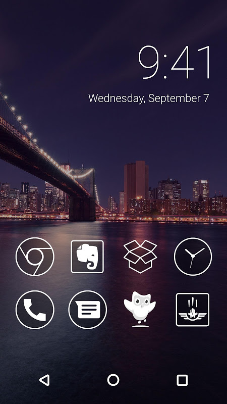 Monoic Monotone White Icon Pack for Nova Launcher screenshot 1