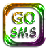 Go SMS Metallic Halloween