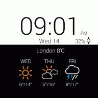 Transparent clock weather Pro screenshot 6