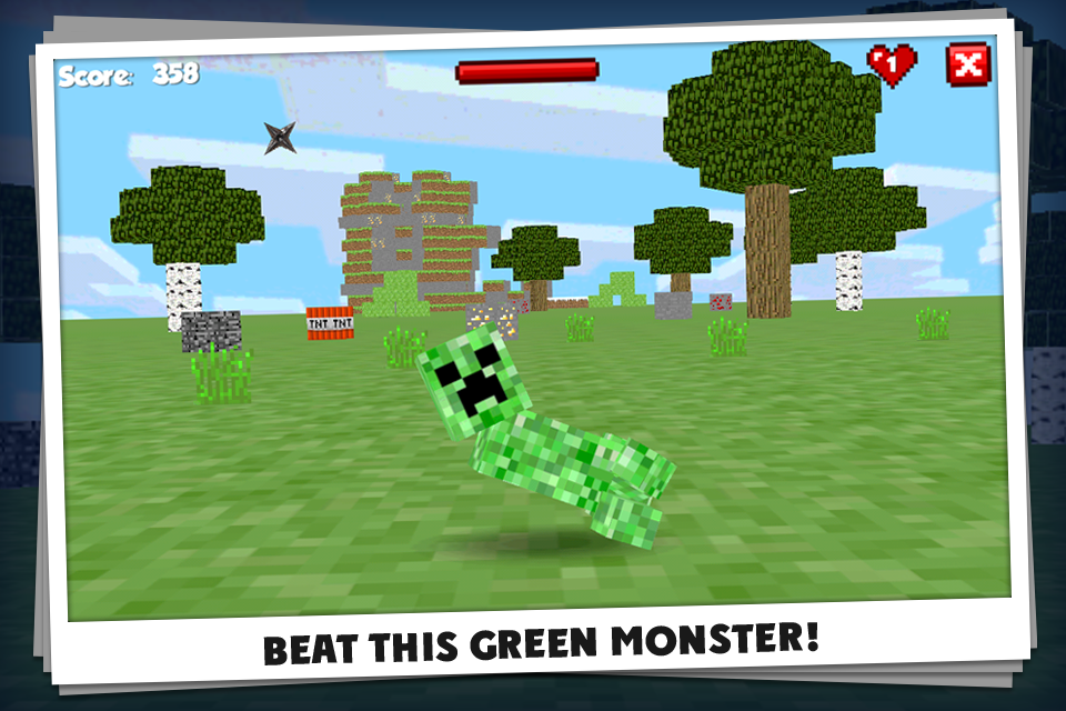 Kick the Minecraft Creeper screenshot 2