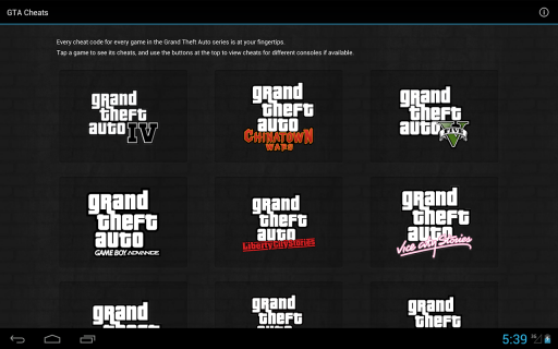 GTA Cheats - for all GTA games screenshot 1