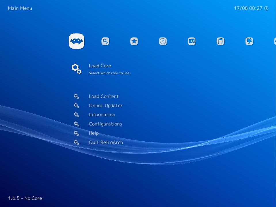 RetroArch screenshot 1