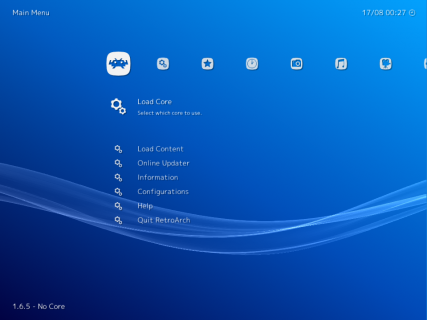 RetroArch screenshot 1