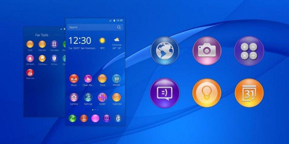 Sony Xperia Z3  Theme for CM Launcher 1 1 5 अॅन्ड्रॉइड