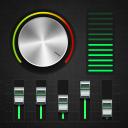 Equalizer: Musik-Player, Lautstärkeregler, Bassver