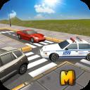 Auto della polizia Chase 3D