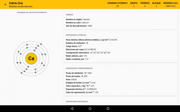 Tabla peridica 630 descargar apk para android aptoide tabla periodica captura de pantalla 16 urtaz Image collections